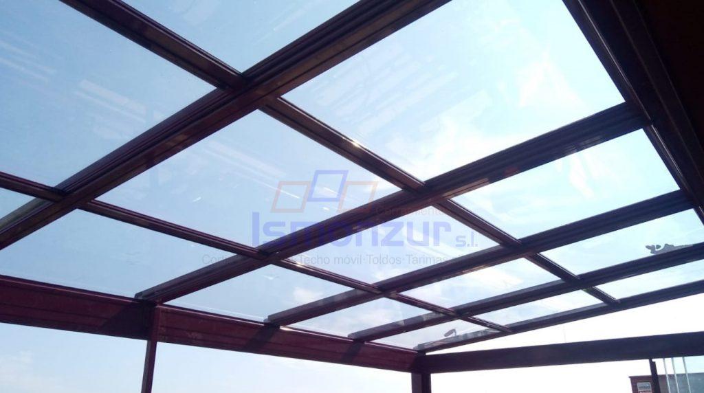 cerramiento de terraza con techo movil