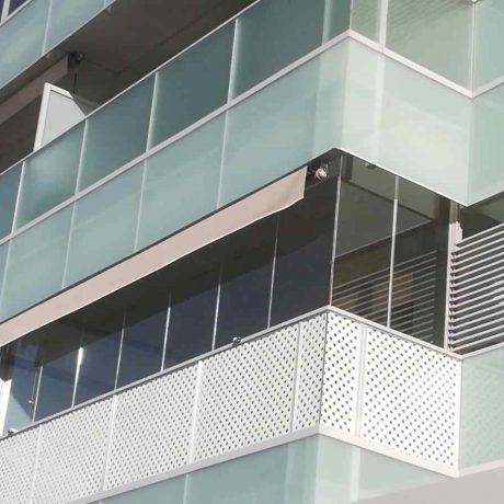 cortina de cristal para balcón